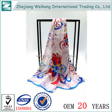 China wholesale websites hand hemming twill silk scarfs