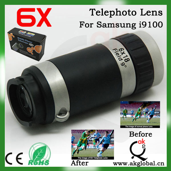 6X Telescope Smart mobile phone Telescope ZOOM Telescope for Samsung Galaxy S2 i9100