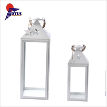 2018 Hot sale indoor outdoor garden candle holder white home decoration lantern