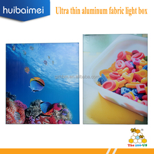 MOQ = 1 set free sample accepted Ultra thin 25mm aluminum frame single sided indoor fabric advertising light box