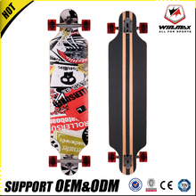 "Winmax high quality PU wheel 42"" longboard 7 plies Canadian maple long skateboard"
