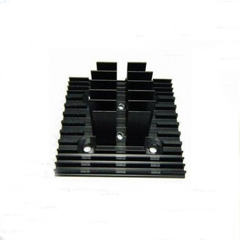 aluminum profile extrusion heat sink anodizing black made in China gangdong custom