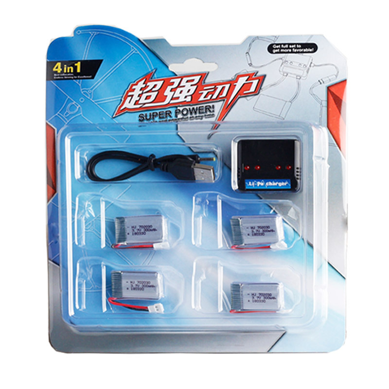 HJ Shantou RC Drone 4 in 1 702030 3.7V 300mAh Rechargeable Lithium Polymer <strong>Battery</strong> Pack