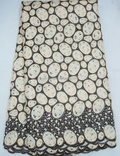 Guangzhou factory supply 100% cotton big swiss voile lace austria with stones on sale J390-5