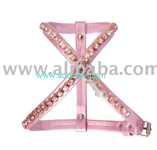 Dog Harness With Cz Crystals, Dog Collar, Pet Supplies Availabe In Free Sizes And Colors