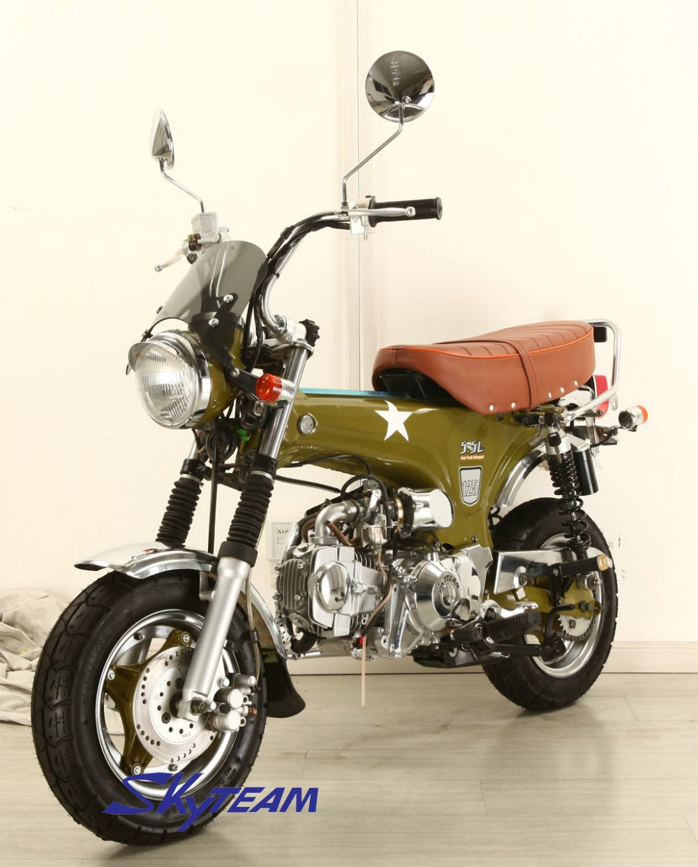 SKYTEAM 50cc and 125cc 4 stroke dax SKYMAX monkey motorcycle(EEC APPROVAL E4) with NEW 5.5L BIG FUEL TANK