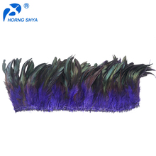 Wholesale Dyed Variou Colors 4-18inch grizzly Long Saddle Tails Cheap Natural Rooster Coque Feather