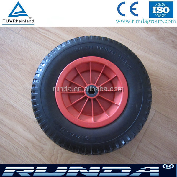 tubeless type pu foam filled wheel 4.00-8