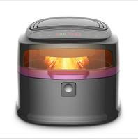 healthy no oil air deep fryer glass screen electric air deep fryer