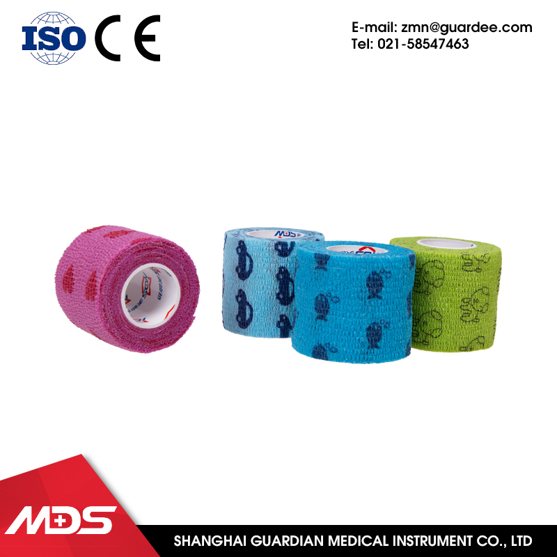 Hot new products non woven types hair medical cohesive flexible bandages printed