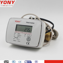 YONY new desigh Digital Pt1000 Sensor Ultrasonic Wave Heat Flow Meter with copper pipe