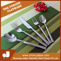 Most popular different design wood handle flatware From China