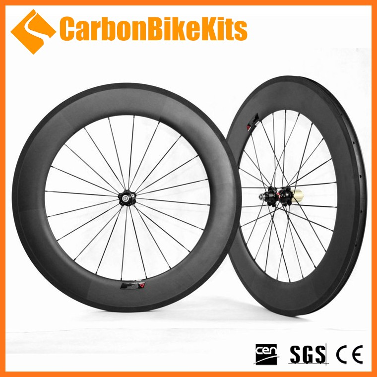 CarbonBikeKits Carbon 88mm clincher high wheel bicycle CW88C