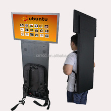 24 inch lcd digital media player outdoor use/backpack advertising display