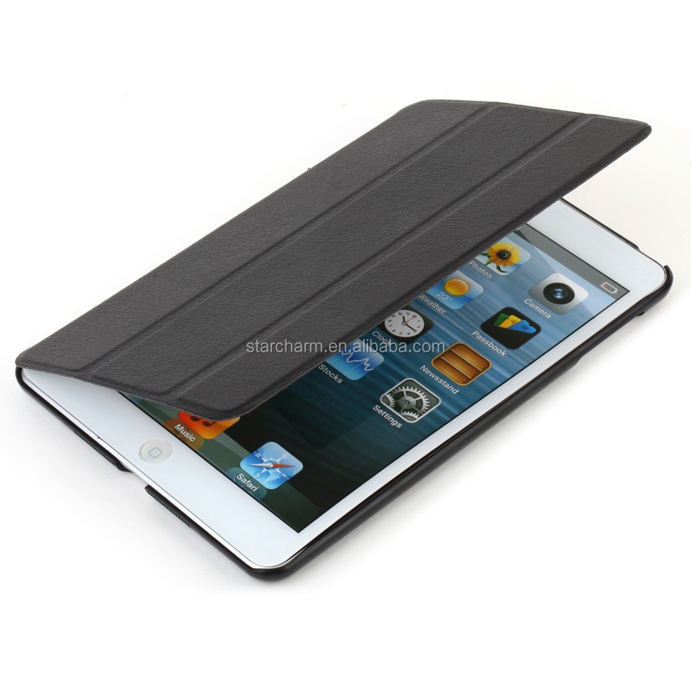 Smart leather cover for Ipad 4, for ipad 4 back case cover