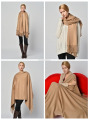 warm and elegant leisure pure camel wool throw Blanket