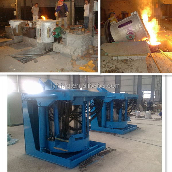 for produce ingots 300kg melting aluminum induction furnace