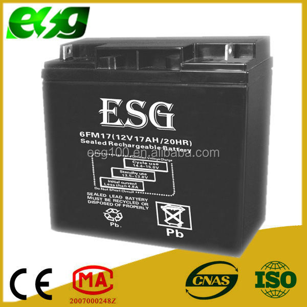 professional electric car bicycle lead acid battery 12v17ah maintenance free