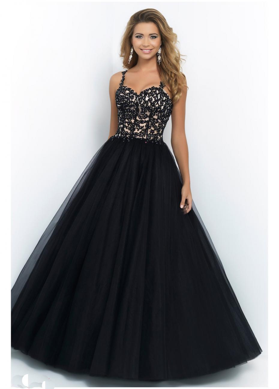 Get Quotations · Spaghetti Straps Sweetheart Black Tulle Beading Formal Long  Puffy Fluffy Prom Dresses Vestido Longo De Formatura 982a0143d86e