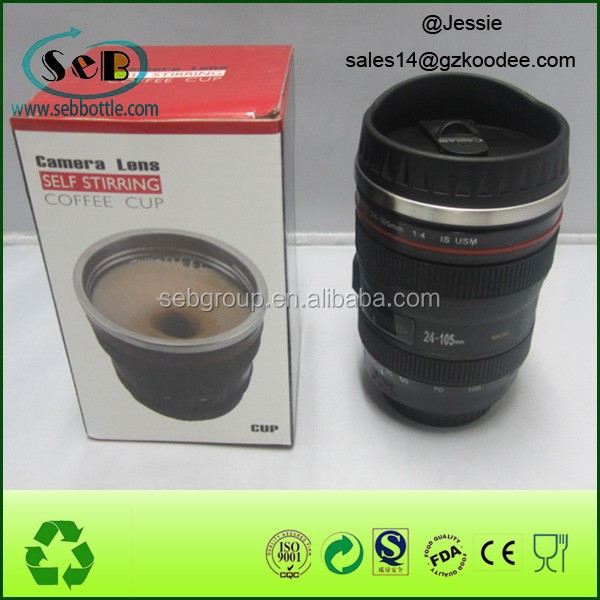 new desgin coffee mug camera lens cup 400ml