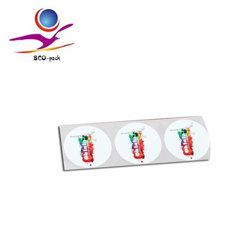 Strong glue sticker label printing in China