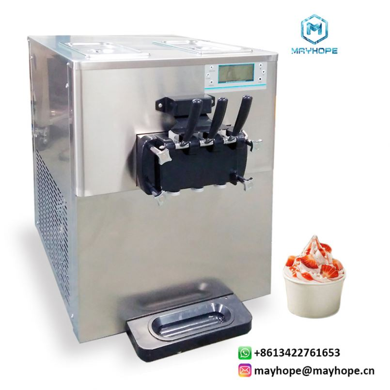 1400W Hard Serve Ice Cream Machine Commercial Ice Cream Machine with LCD Display 20 <strong>L</strong> Per Hour Ice Cream Maker