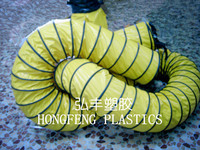 flexible heat resistant duct hose work in tunnel project , mining project