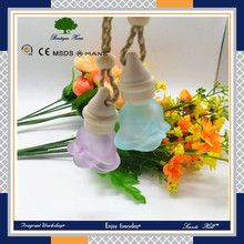 flower shape special design good personalised cute air freshener 6ml car perfume bottle