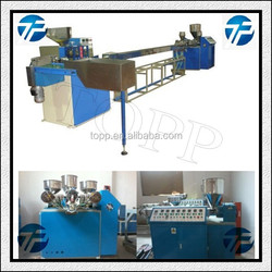 Three Color Plastic Lollipop Candy Stick Extruding Making Machine