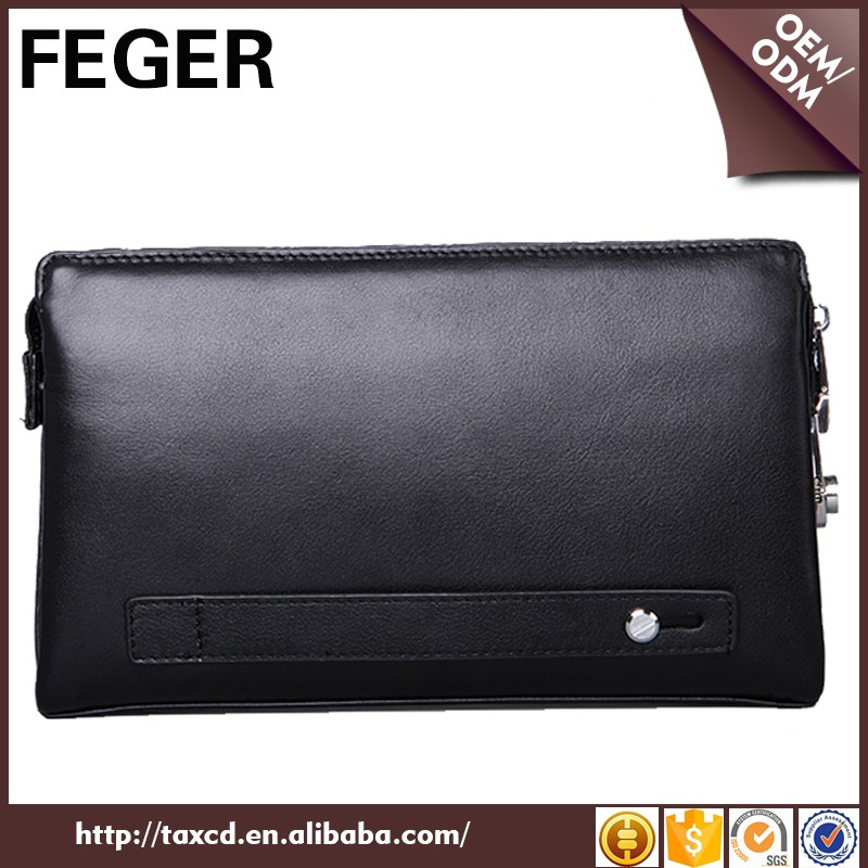 China Supplier Fashion Leather Clutch Bag For Cell Phone