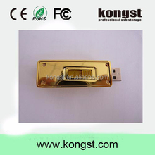 Kongst newest design golden usb flash drive pen drive 8GB 16GB Gold Bar USB 2.0 Flash memory pendrive Stick disk
