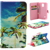 2015 Seaside and tree design IMD case for Samsung Note 4