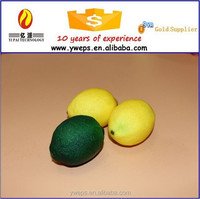 Christmas decorative artificial lemon fruit/Lemon slices/Plastic lemon for sale