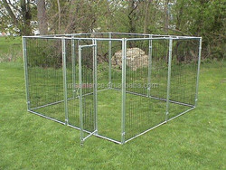 "Alibaba express 1 3/8"" O.D. glavanized tubing frames fully welded 4 x 4 x 6 H Portable Dog Kennels / dog cage"
