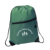 High quality eco friendly waterproof polyester drawstring backpack with zipper pocket