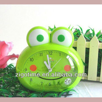 cartoon alarm clock frog style