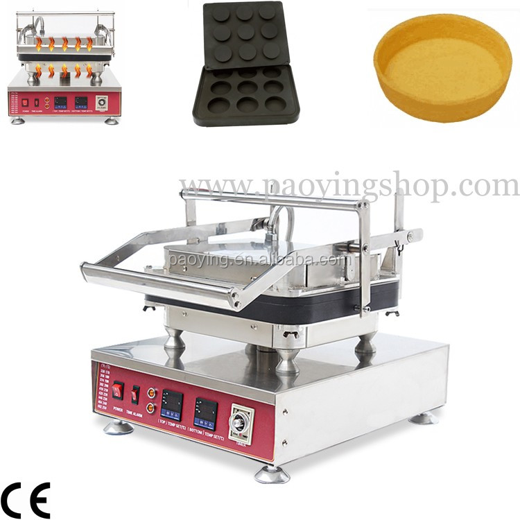 Commercial Use Nonstick 110v 220v Electric 9pcs Round Egg Pie Pastry Tart Shells Machine