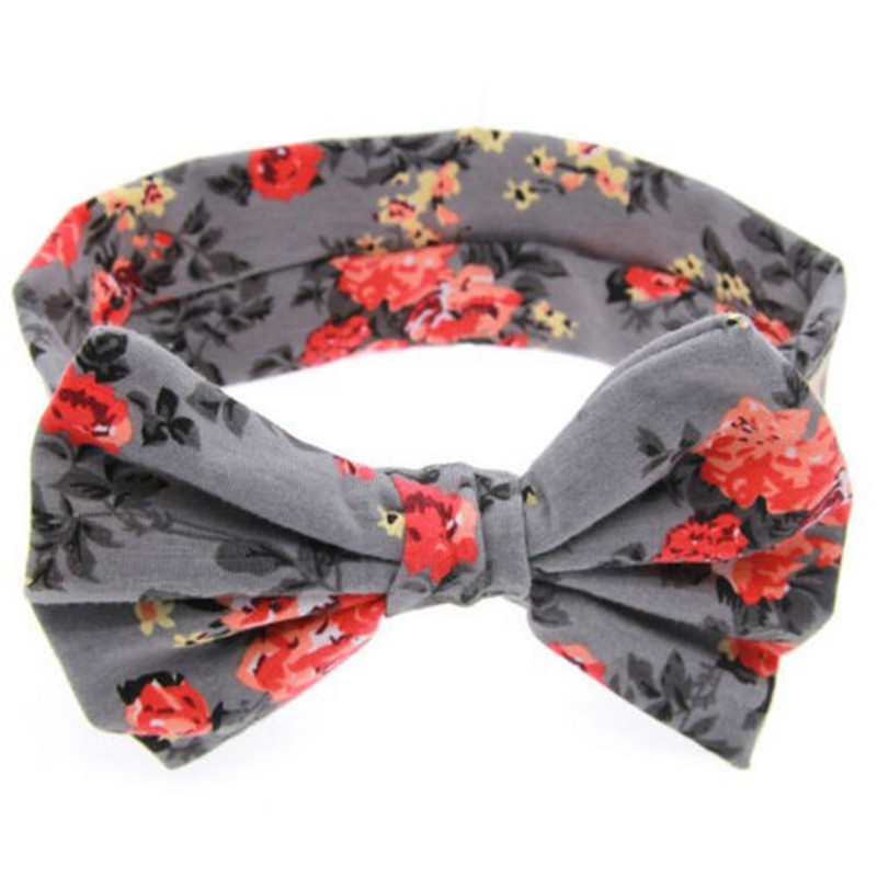 Baby Floral Printed Top Knot Headband for Girl Hair Flower Baby Turban Headband Girl Cotton Headwrap Accessories