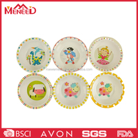 2016 custom design children round shape melamine chinese soup bowls, cheap melamine dinner plates