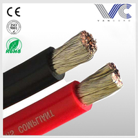 FrankEver high quality marine grade solid flexible red power cable
