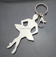 metal custom girl dance keychain