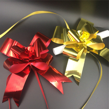 Wholesale plastic outdoor christmas pull ribbon bow