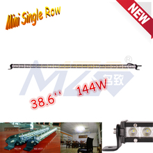 Latest LED Light Bar Mini Single Row, MZ 144W 38.6'' CRE E super brightness mini single row, made in China Die cast aluminum led