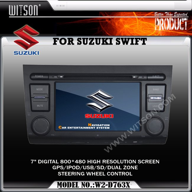 WITSON Car DVD For SUZUKI SWIFT with Built-in GPS SUZUKI SWIFT CAR DVD
