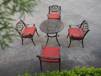 UV Resistance Outdoor Dining Table , Cast aluminium Parden Furniture Set