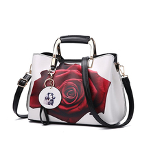Fashion printing pu leather top handle Satchel Shoulder <strong>Bags</strong> <strong>tote</strong> <strong>bag</strong> for Women