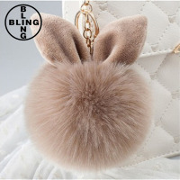 >>>2017 New Fur Ball Keychain Bag Plush Key Ring Car Key Plush Pendant Keychain