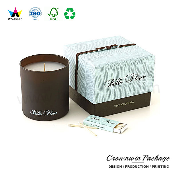 Coffin Shape Matte Black Glass Candle In Gift Box Of Dongguan Crownwin