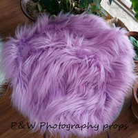 Baby Swaddle Blanket Newborn Photo Props Faux Fur Fabric,Layering Blanket, Super Soft Faux Fur,