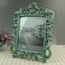 Xiamen Factory wholesale polyresin hand painted photo frames
